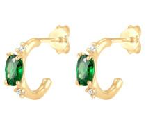 Ohrringe gold / grün