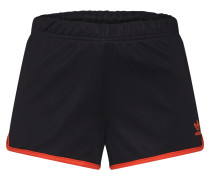 Shorts orange / schwarz