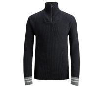 Pullover nachtblau / grau / weiß