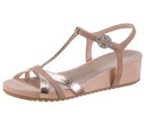Sandalette '' rosegold / altrosa
