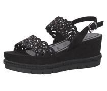 Plateau-Sandaletten schwarz