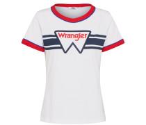 Tshirt 'ringer' marine / rot / weiß