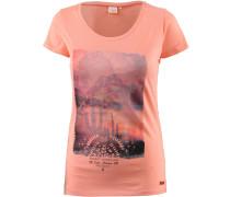 'melita' T-Shirt hellorange / schwarz