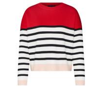 Pullover 'marie' rot / schwarz / weiß