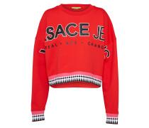 Sweater 'light Rdm311' rot / schwarz