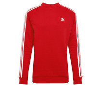 Sweatshirt '3 Stripes' rot / weiß