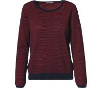 Pullover rot / schwarz