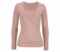 Yoga & Relax Shirt mit Wickeloptik altrosa