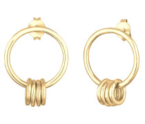 Ohrringe 'Geo Kreis' gold