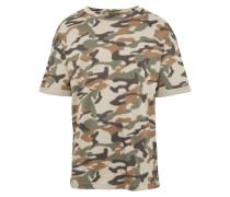 T-Shirt 'RN Boxy Camou' oliv