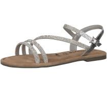 Sandale braun / silber