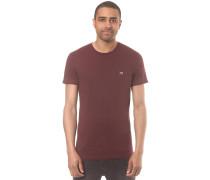 T-Shirt 'Turn Up' weinrot