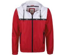 Jacke rot / schwarz / weiß