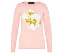 Pullover senf / rosa / weiß