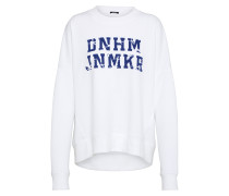 Sweater mit Logoschriftzug blau / weiß