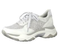 Sneakers Low silber / weiß