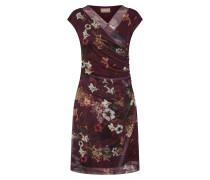 Kleid mischfarben / bordeaux