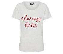 T-Shirt 'TS Always Late' hellgrau