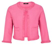 Kurze Bouclé-Jacke pink