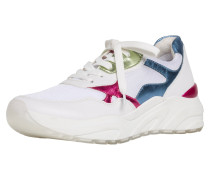 Sneaker pink / weiß / blau / grün