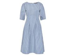 Gestreiftes Kleid mit Halbärmeln