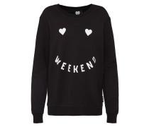 Sweatshirt 'SW Weekend' schwarz