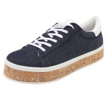 Plateau-Sneaker blau