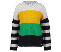 Pullover gelb / grün / schwarz / weiß