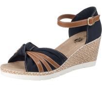 Sandaletten navy / braun