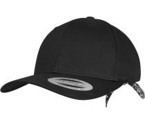 Curved Bandana Snapback schwarz / weiß