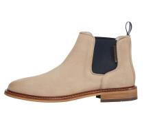 Chelsea-Boots hellbeige / schwarz