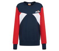 Sweatshirt 'valesia' marine / rot