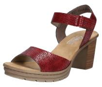 Sandale hellbraun / bordeaux