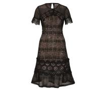 Kleid aus Spitze schwarz