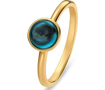 Ring '60142572' gold / petrol