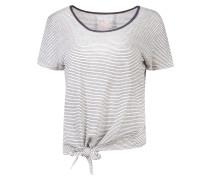 Shirt 'Emily the Shirt' schwarz / weiß