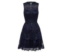 Kleid mit Spitze nachtblau