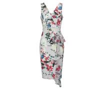 Kleid in Midilänge grau / mischfarben