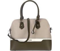 Angelique Handtasche taupe / grün / weiß