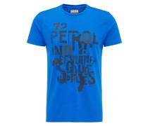 T-Shirt blau / dunkelgrau