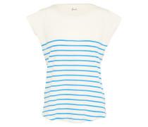 Shirt 'Newport' blau / naturweiß