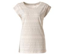 T-Shirt 'Emi' grau / weiß