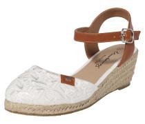 Sandalette braun / weiß