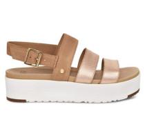 Braelynn Metallic Sandaletten für Damen aus Leder in Rose Gold