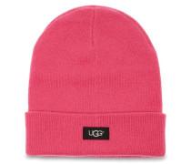 Oversize Cuff Mütze Damen Bright Pink