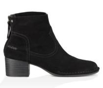 Bandara Ankle Boot Aus Veloursleder Damen Black