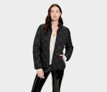 Selda Packable Steppjacke für Damen in Schwarz