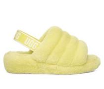 Fluff Yeah Neon Hausschuhe Damen Neon Yellow