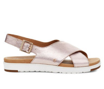 Kamile Sandalen aus Leder in Blush Metallic