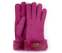 Turn Cuff Handchuhe für Damen in Fuchia
